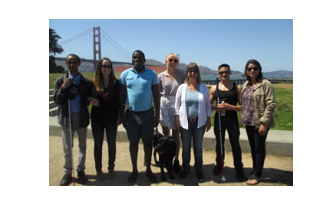 Members of DeafBlind Citizens in Action and students in SFSU Specialization in Deaf-Blindness Program meet at Crissy Field