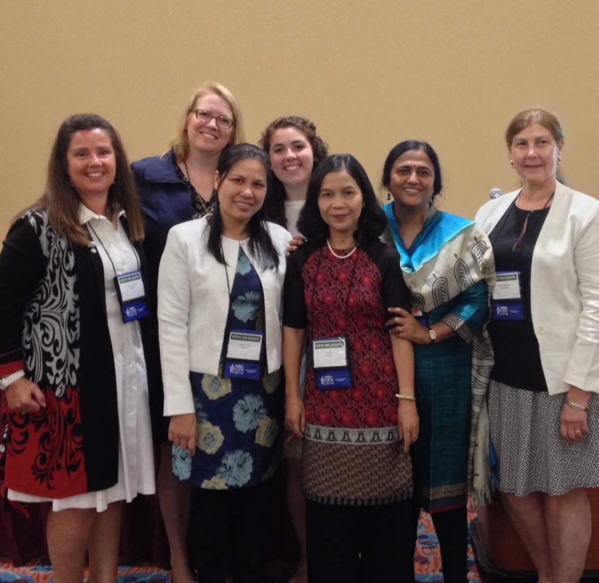 From left to right: Carolyn Monaco, Amy Parker, Nho Hoang Thi, Leanne Cook, My Cao Xuan, Nandini Rawal, Debbie Gleason