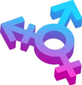 Gender symbol - male, female, trans