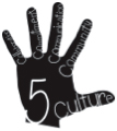 High Five logo - a hand with Culture, Collaboration, Commitment, Communication, and Community written on the fingers