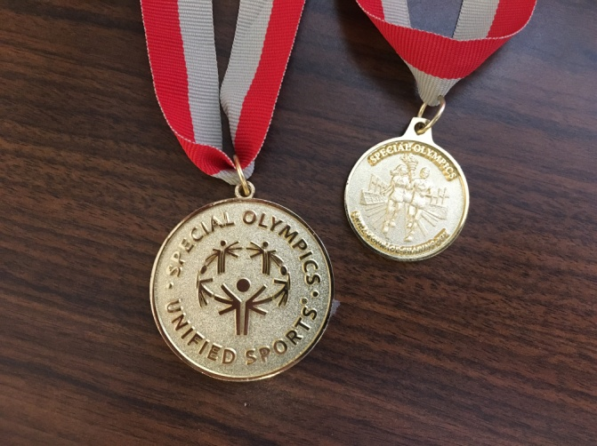 Gold Medals in bocce from the State Games and the  regional competition.