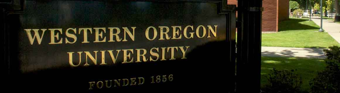 Western Oregon University sign