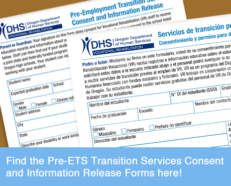 Pre-ETS Transition Services and Consent Forms