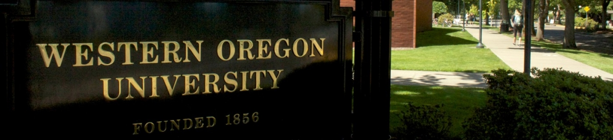 Western Oregon University entryway sign